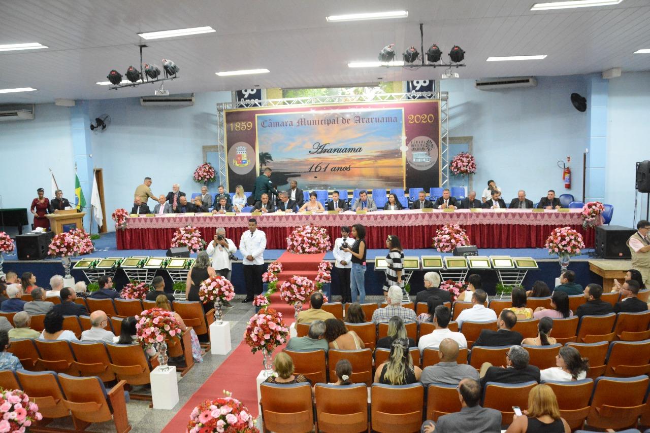 Câmara Municipal realiza Sessão Solene em Comemoração aos 161 anos de Araruama