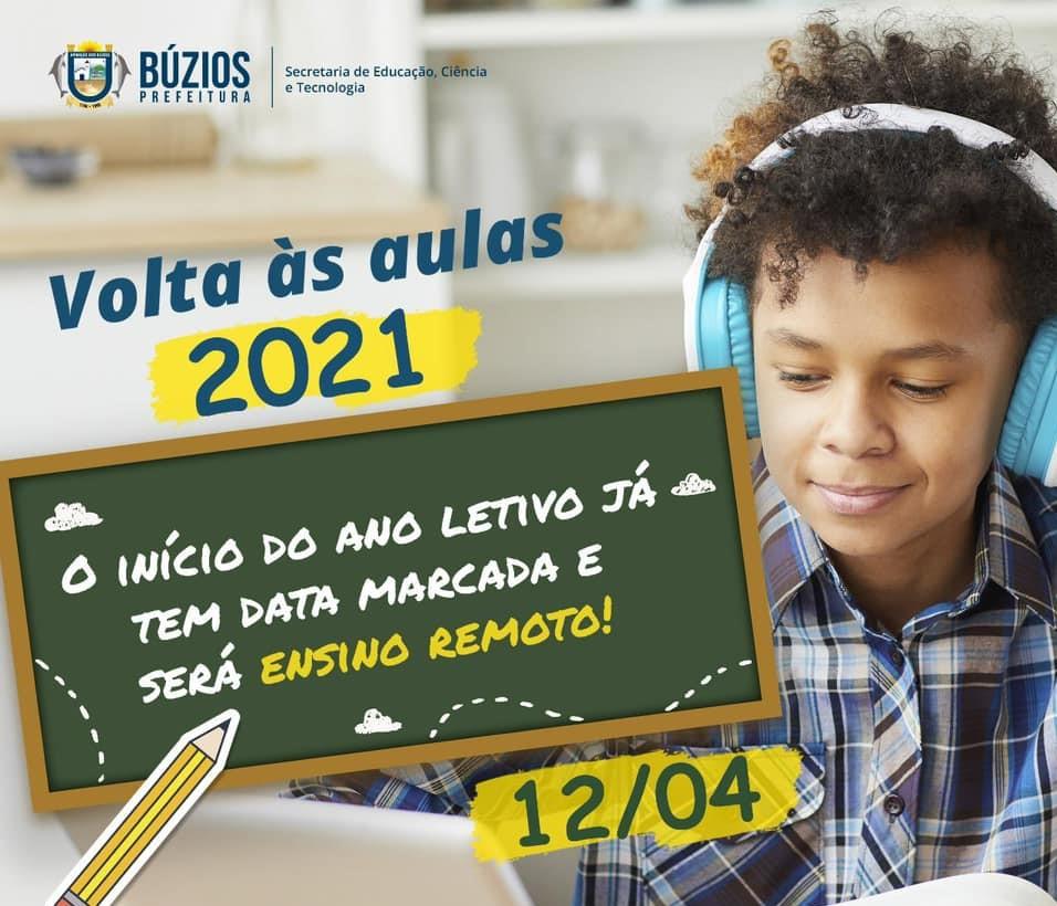 Data marcada! Aulas voltarão dia 12 de abril de forma remota em Búzios