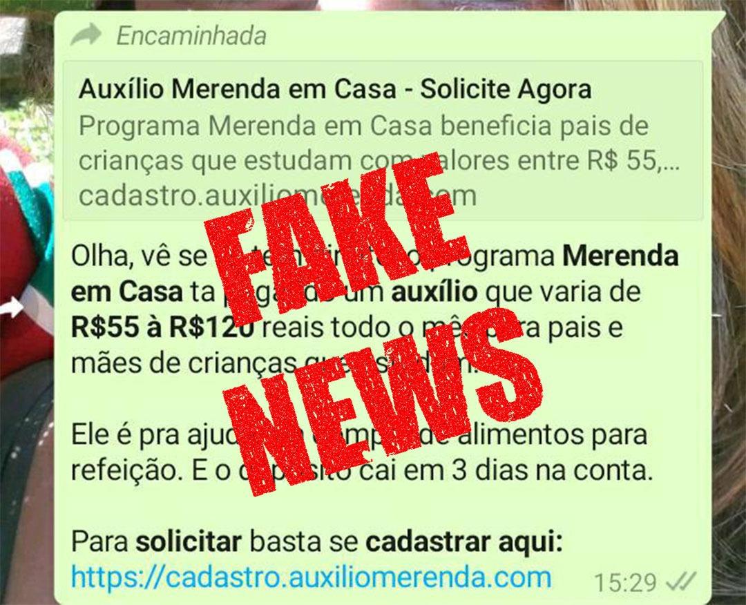 """Fake News! Prefeitura de Cabo Frio divulga que Programa """"Merenda em Casa"""" não é verdadeiro"""