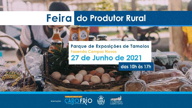 Feira do Produtor Rural terá edição especial a partir desta quinta, 24, em Cabo Frio