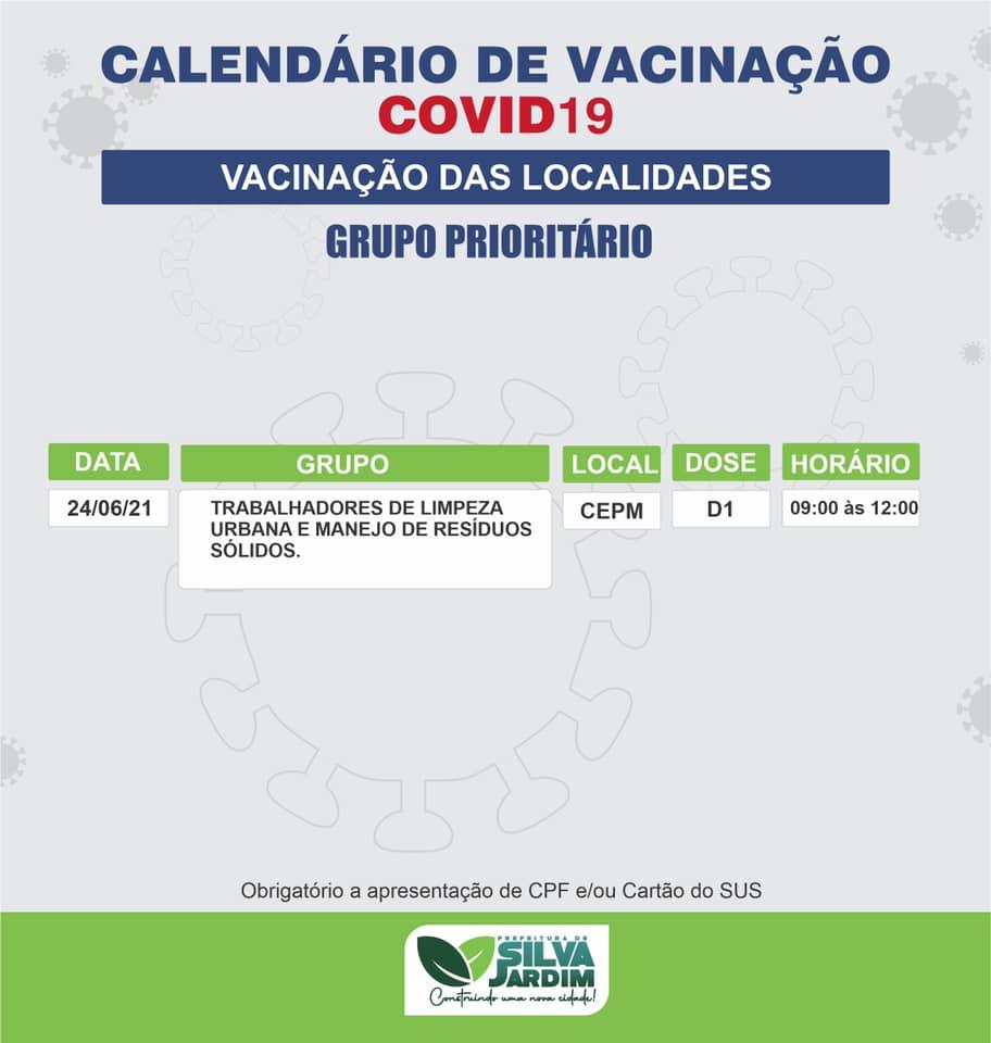 Novo grupo prioritário será vacinado em Silva Jardim