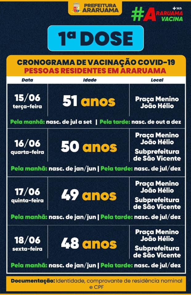 Semana de vacinação contra a covid-19 em Araruama