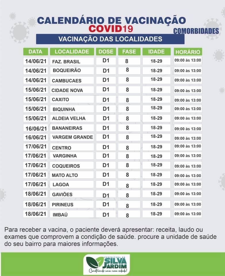 Vacinação para quem tem comorbidades em Silva Jardim