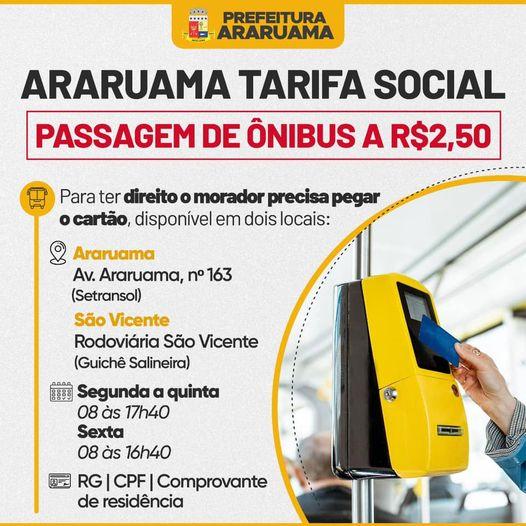 Prefeitura de Araruama implanta subsídio e ajusta o valor da passagem de ônibus